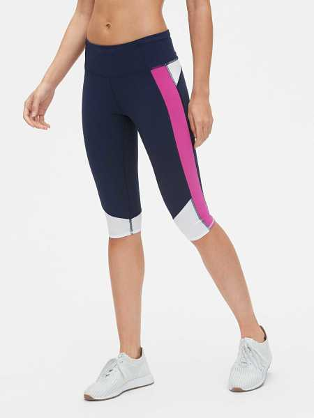 GFast Sprint Tech Crop Leggings Indigo - Gap - GOOFASH