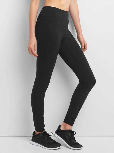 GapFit High Rise Blackout Full Length Leggings Black - Gap - GOOFASH