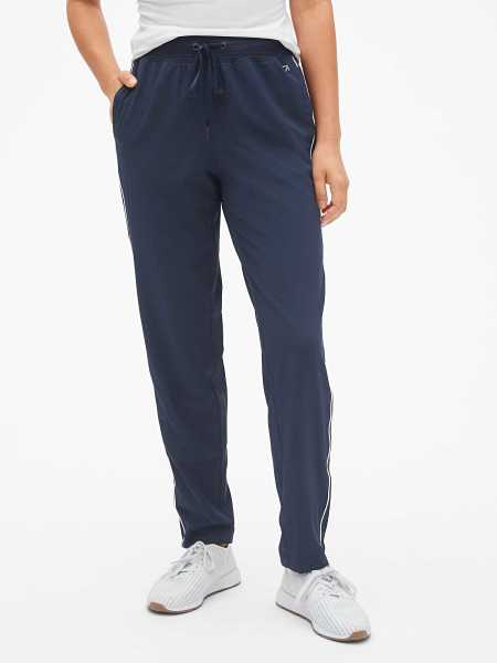 GapFit Side-Stripe Drawstring Pants Indigo - Gap - GOOFASH