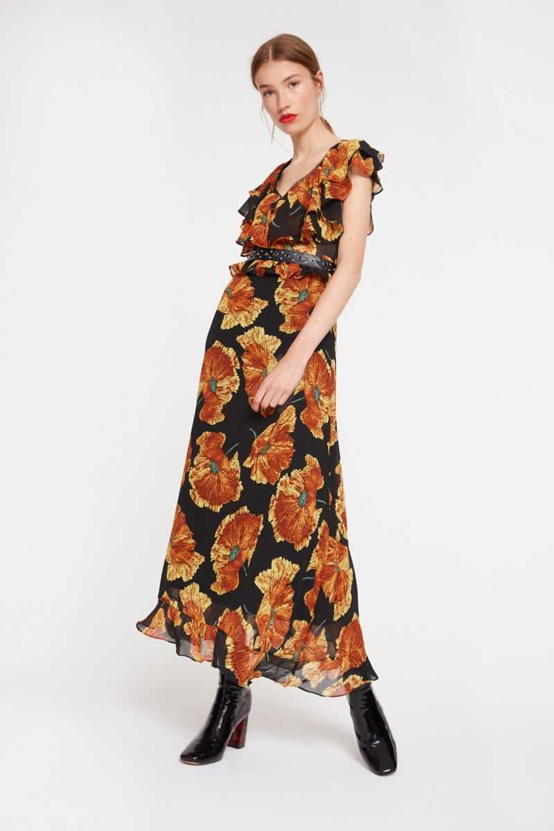 Ghospell Floral Maxi Dress With Studded Detailing - Own The Look - GOOFASH