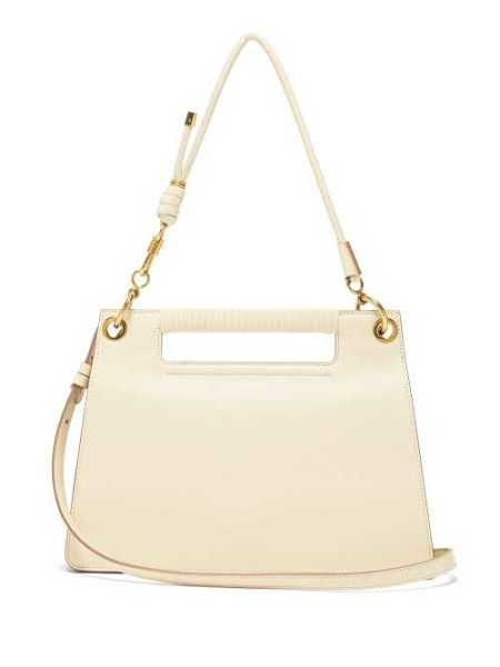 Givenchy - The Whip Medium Cut Out Leather Cross Body Bag - Ivory Ivory - Matches Fashion - GOOFASH