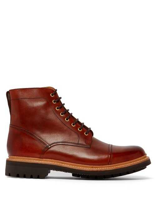 Grenson - Joseph Lace Up Leather Boots - Brown Brown - Matches Fashion - GOOFASH