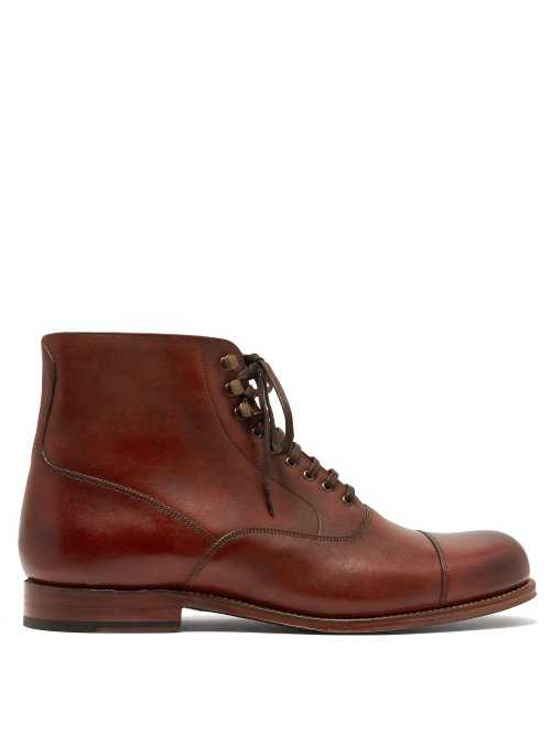 Grenson - Leander Leather Boots - Brown Brown - Matches Fashion - GOOFASH