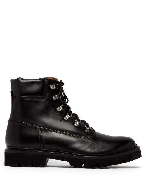 Grenson - Rutherford Leather Boots - Black Black - Matches Fashion - GOOFASH