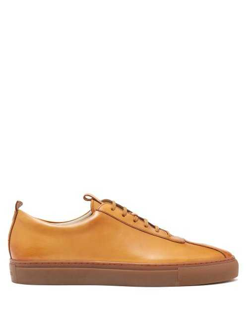 Grenson - Sneaker 1 Leather Low Top Trainers - Brown Brown - Matches Fashion - GOOFASH