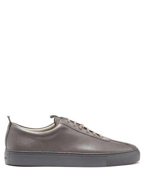 Grenson - Sneaker 1 Leather Low Top Trainers - Grey Grey - Matches Fashion - GOOFASH