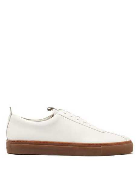 Grenson - Sneaker 1 Low Top Leather Trainers - White White - Matches Fashion - GOOFASH