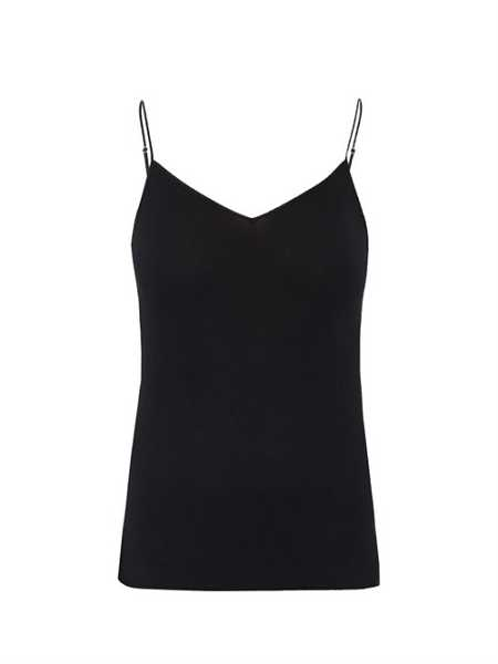 Hanro - Seamless V Neck Tank Top - Black Black - Matches Fashion - GOOFASH