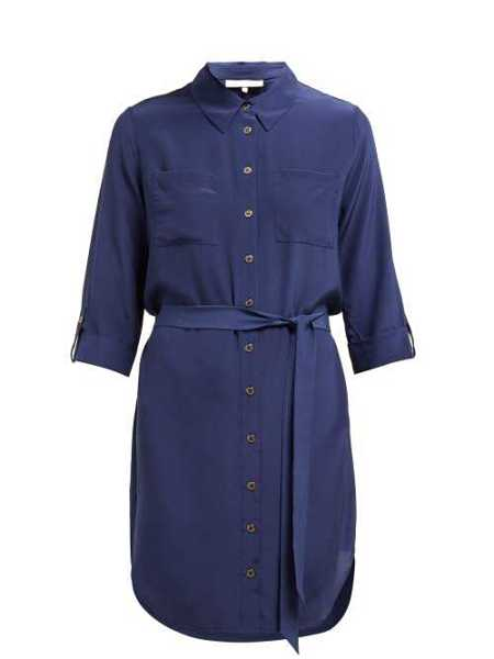 Heidi Klein - Point Collar Silk Shirtdress - Blue Blue - Matches Fashion - GOOFASH