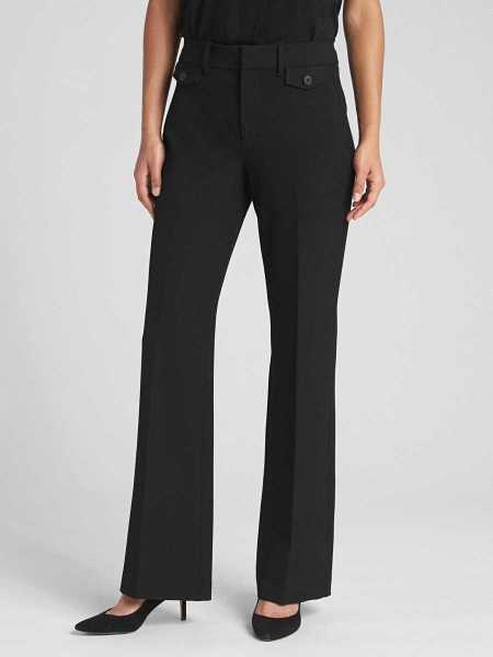 High Rise Curvy Baby Boot Pants Black - Gap - GOOFASH