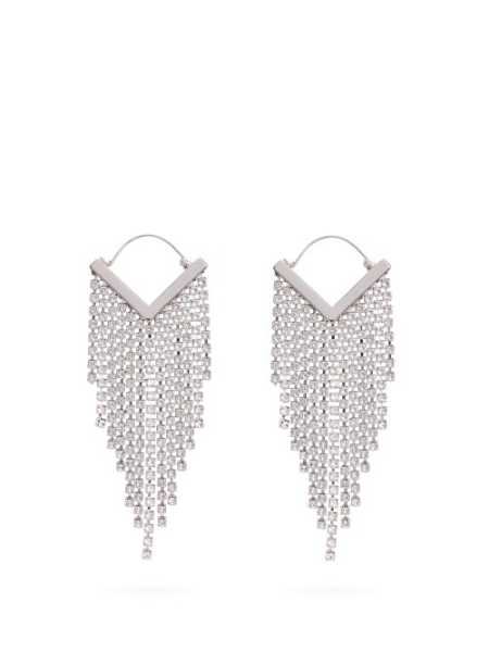 Isabel Marant - Crystal Embellished Tassel Drop Earrings - Clear Clear - Matches Fashion - GOOFASH