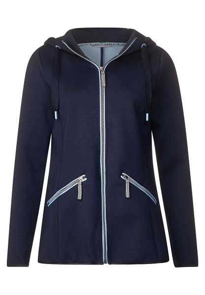 Jacket with contrast panels - deep blue - Street One - GOOFASH