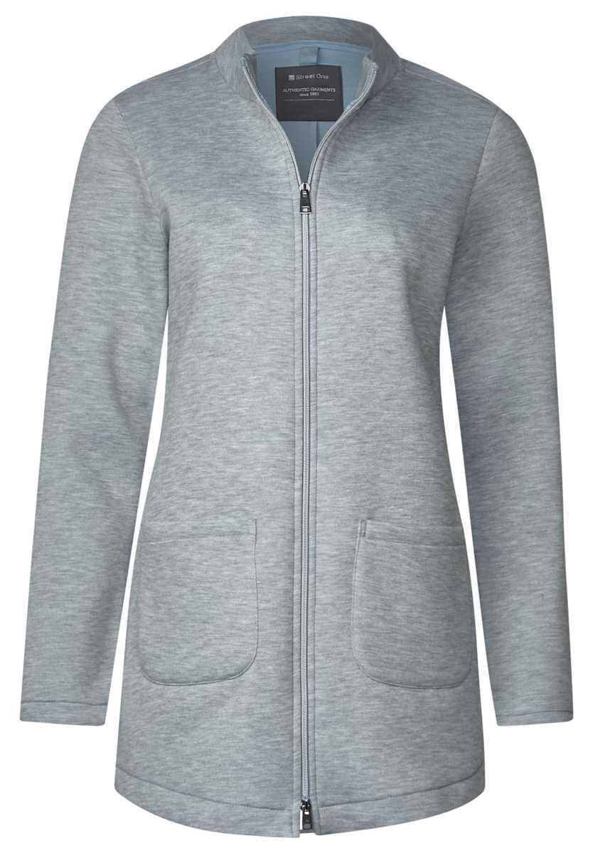 Jacket with front pockets - cyber gray melange - Street One - GOOFASH