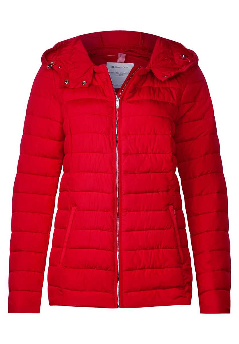 Jacket with inner print - flame red - Street One - GOOFASH