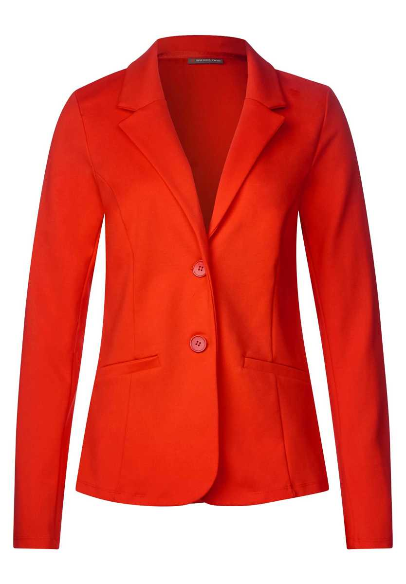 Jersey blazer - hot orange - Street One - GOOFASH