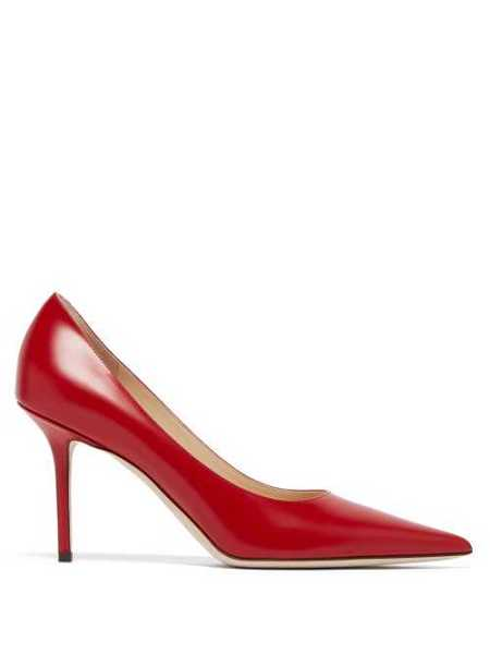 Jimmy Choo - Love 85 Leather Pumps - Red Red - Matches Fashion - GOOFASH