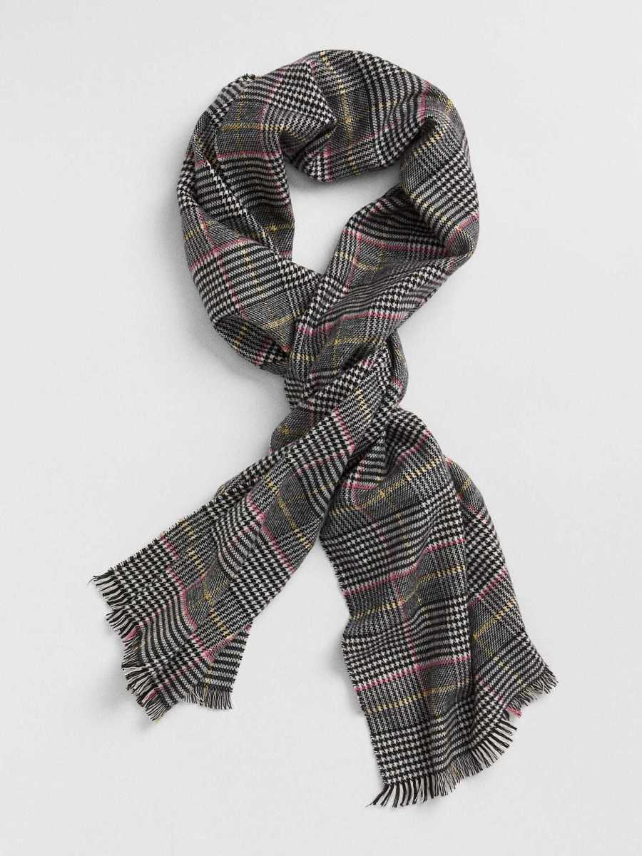 Kids Cozy Plaid Scarf Multi - Gap - GOOFASH