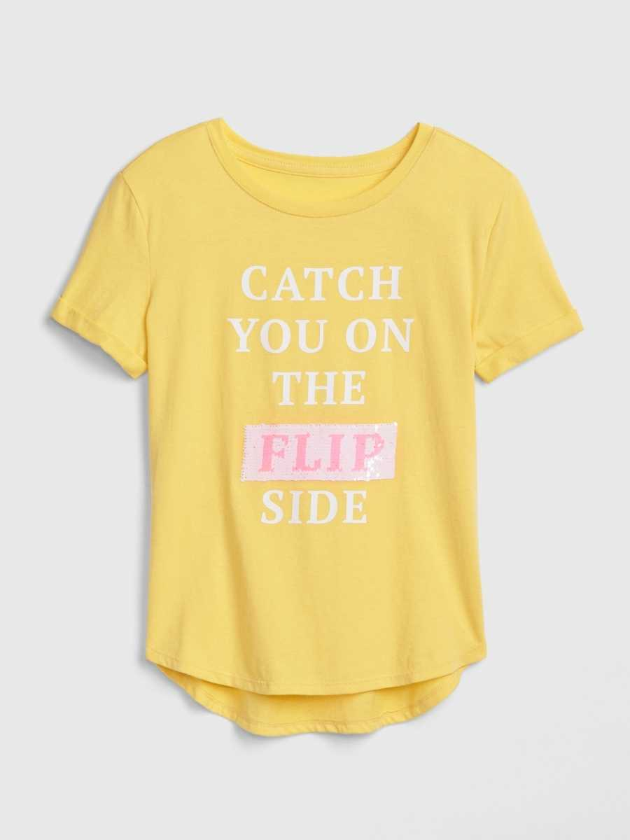 Kids Flippy Sequin Graphic T-Shirt Shimmer - Gap - GOOFASH