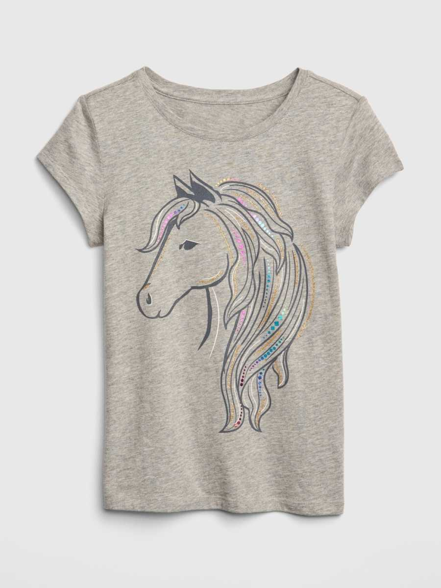 17bb033f7 Gap Kids Glitter Short Sleeve Graphic T-Shirt Grey | GOOFASH SHOP
