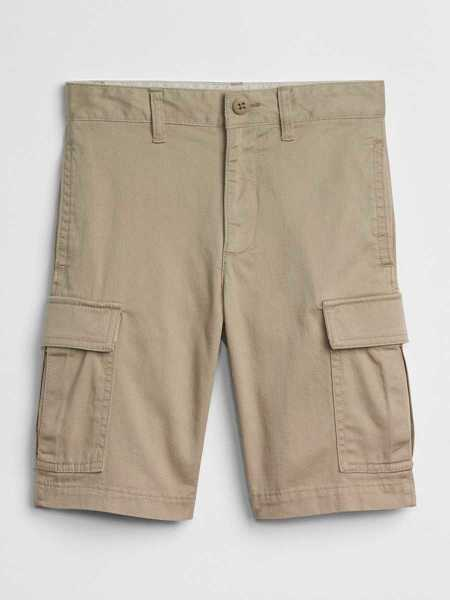 Kids Khaki Cargo Shorts In Stretch Khaki - Gap - GOOFASH