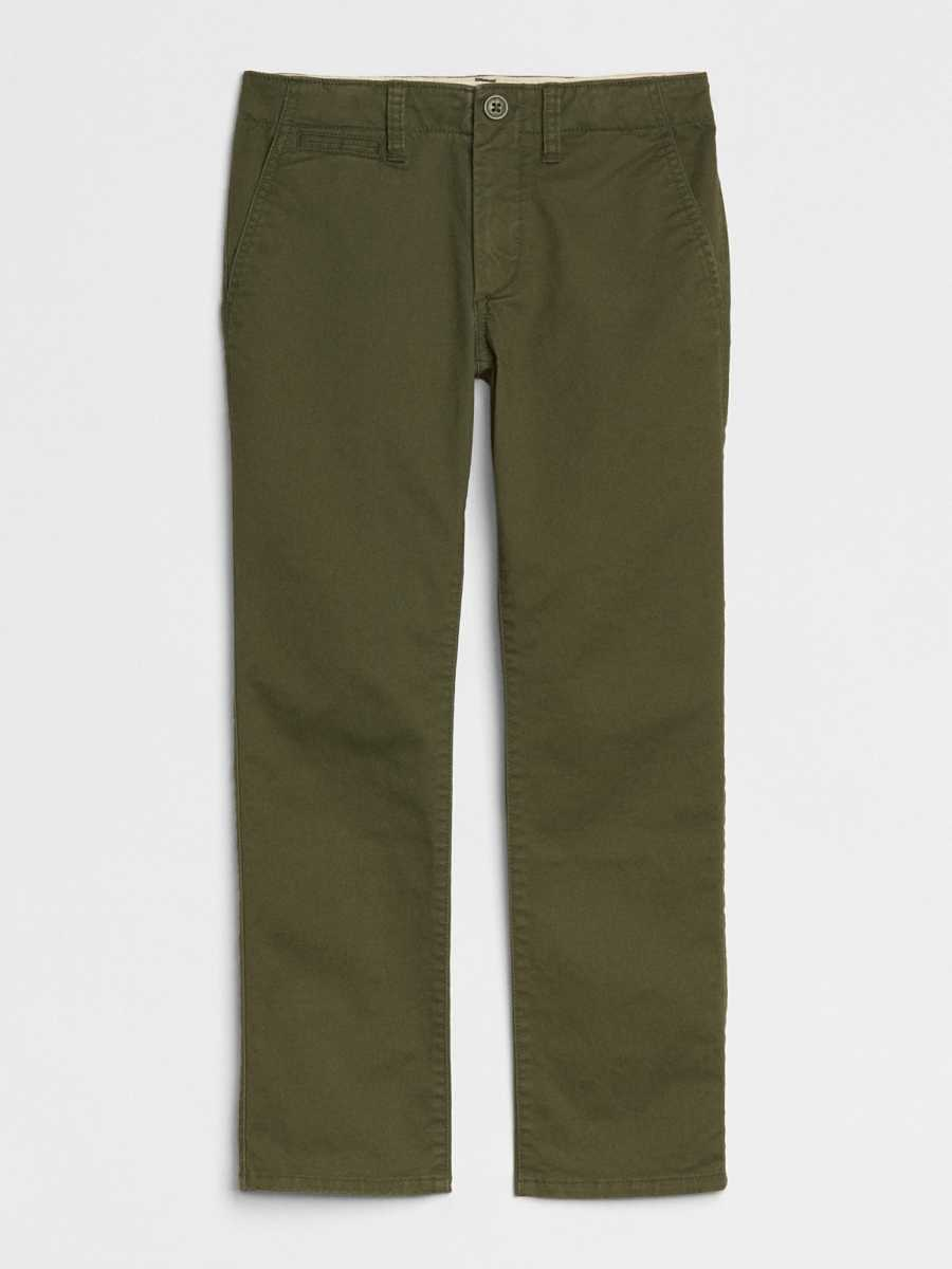 Kids Khakis in Color with Stretch Army Jacket Green - Gap - GOOFASH