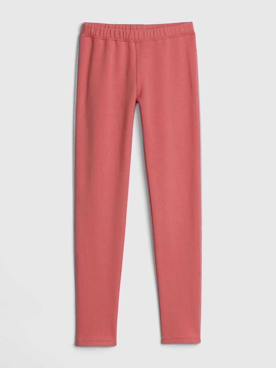 Kids Piping Leggings in Soft Terry Weathered Red - Gap - GOOFASH