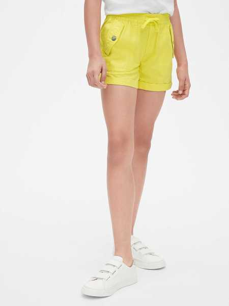 Kids Pull-On Cargo Shorts Aurora Yellow - Gap - GOOFASH