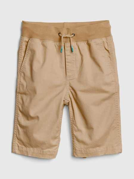 Kids Pull-On Shorts Dried Straw - Gap - GOOFASH