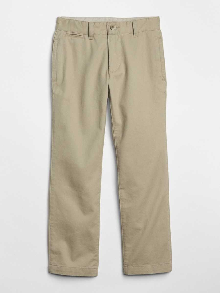 Kids Relaxed Khakis in Stretch Khaki - Gap - GOOFASH