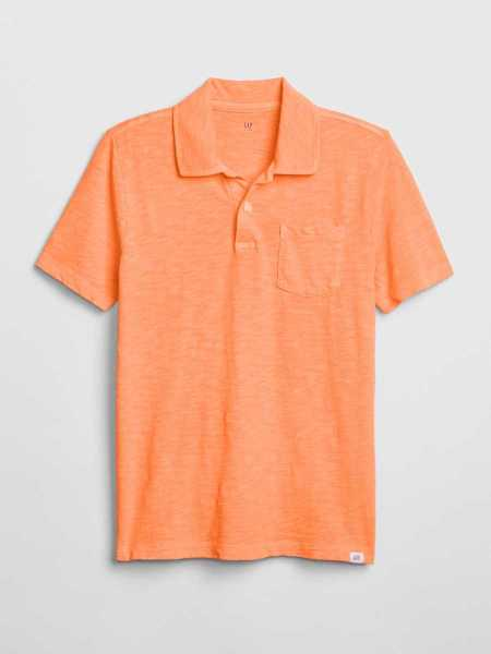 Kids Short Sleeve Polo Shirt Shirt Jos Orange - Gap - GOOFASH