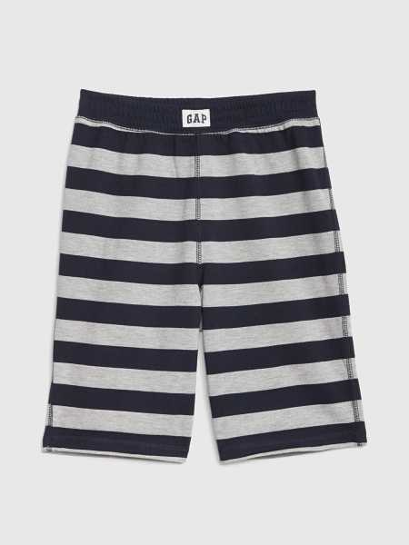 Kids Stripe Pull-On Pj Shorts Navy Stripe - Gap - GOOFASH