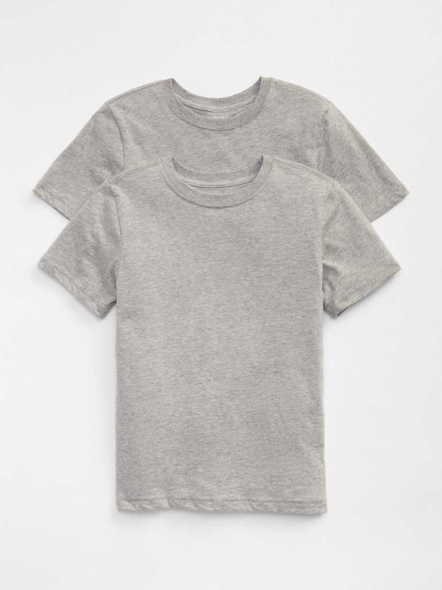 Kids Undershirts (2-Pack) Lt Grey - Gap - GOOFASH