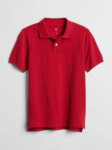 Kids Uniform Short Sleeve Polo Shirt Shirt Modern Red 2 - Gap - GOOFASH