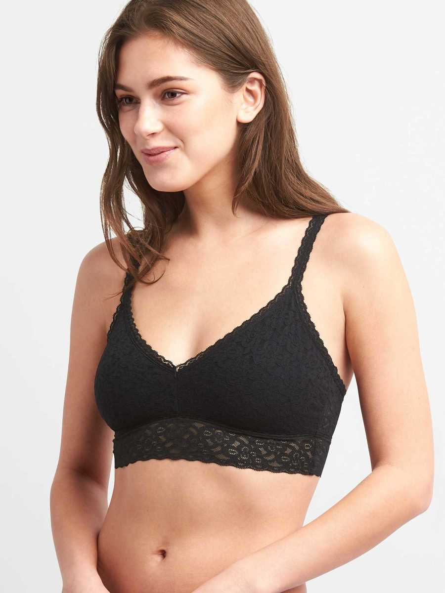 Lace Bralette Black - Gap - GOOFASH