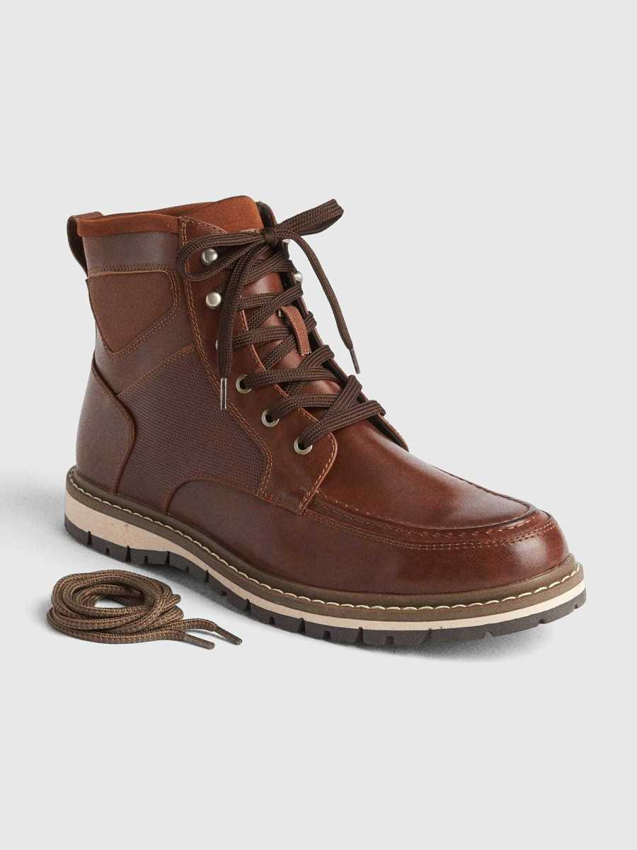Lace-Up Boots Terra Brown - Gap - GOOFASH