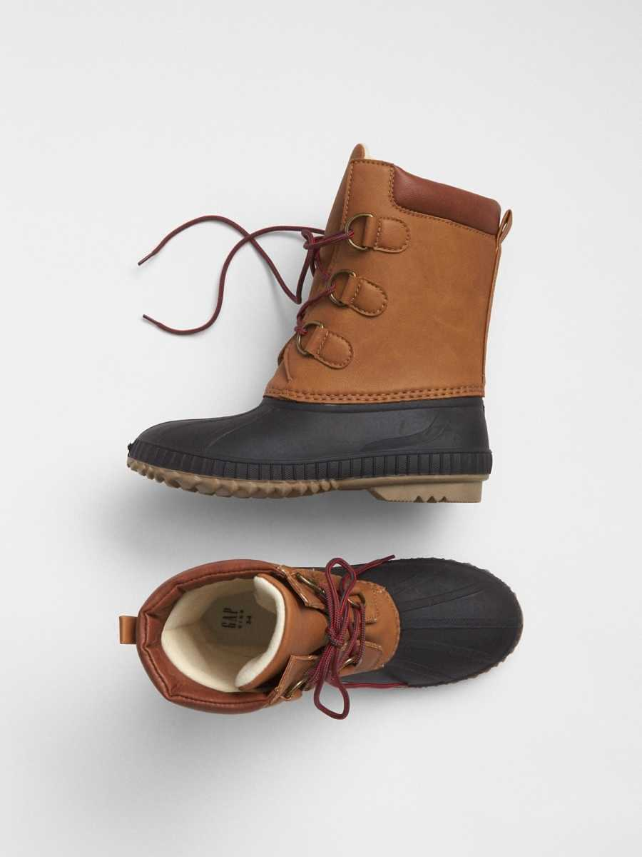 Lace-Up Duck Boots Classic Camel - Gap - GOOFASH