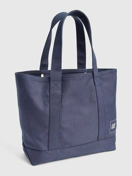 Large Canvas Tote Navy - Gap - GOOFASH