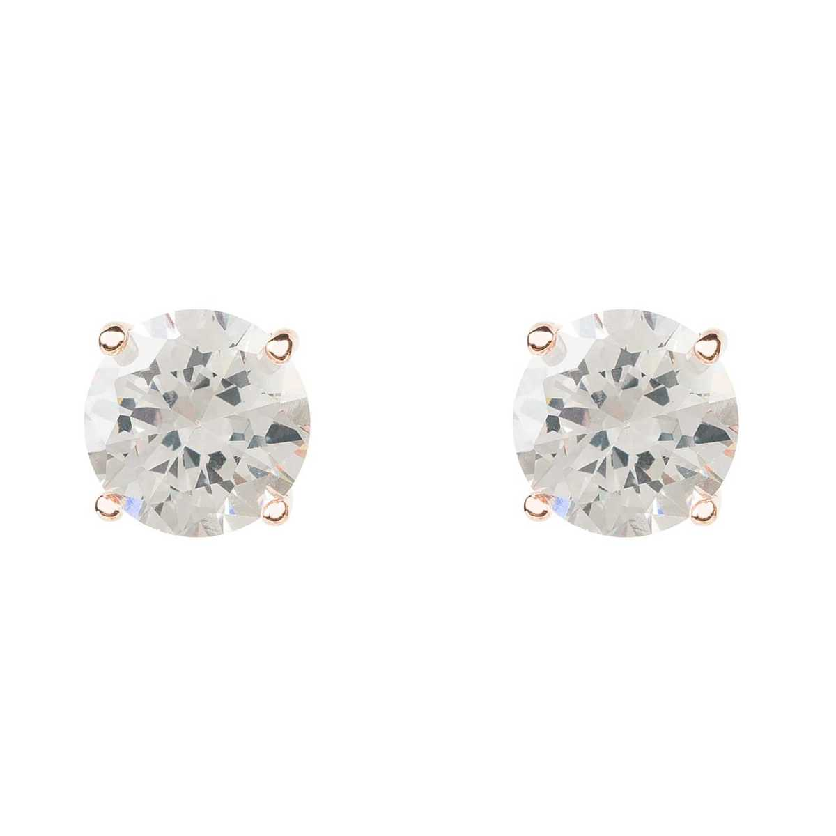 Latelita - Solitaire Cz Earring Rosegold - Wolf And Badger - GOOFASH
