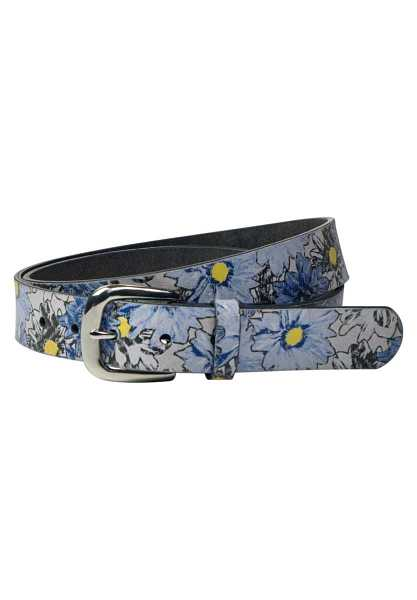 Leather belt with floral pattern - off white - Street One - GOOFASH