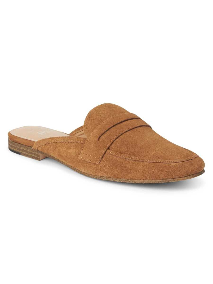 Leather loafer mules Rust639 - Gap - GOOFASH