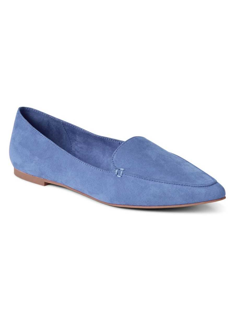 Leather pointed loafers Infinity Blue - Gap - GOOFASH