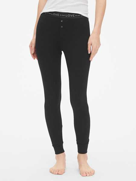 Logo Leggings in Modal Black - Gap - GOOFASH