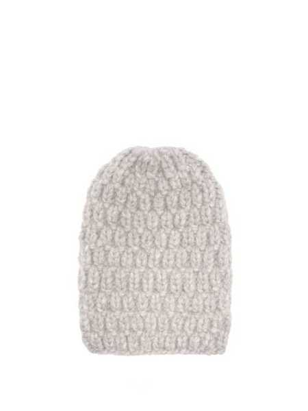 Lola Hats - Hopscotch Alpaca Blend Beanie - Grey Grey - Matches Fashion - GOOFASH