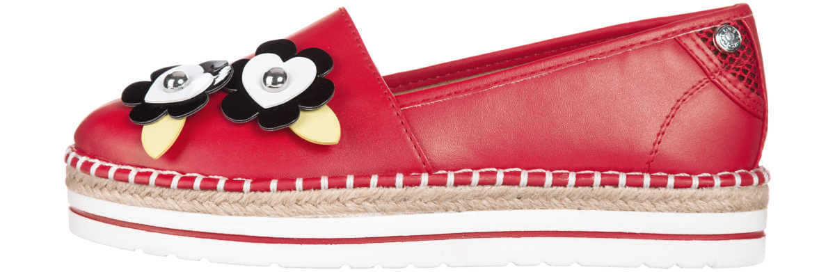 Love Moschino Espadrille Red GOOFASH 253820