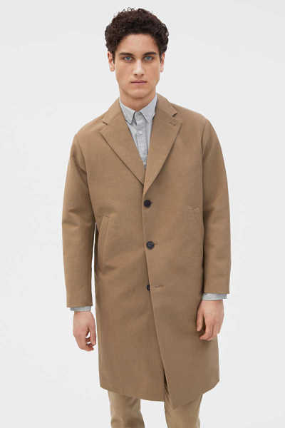 Luke Cotton Coat Brown - Filiappa K - GOOFASH