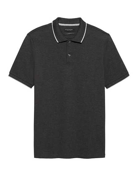 Luxury-Touch Tipped Polo - Banana Republic - GOOFASH