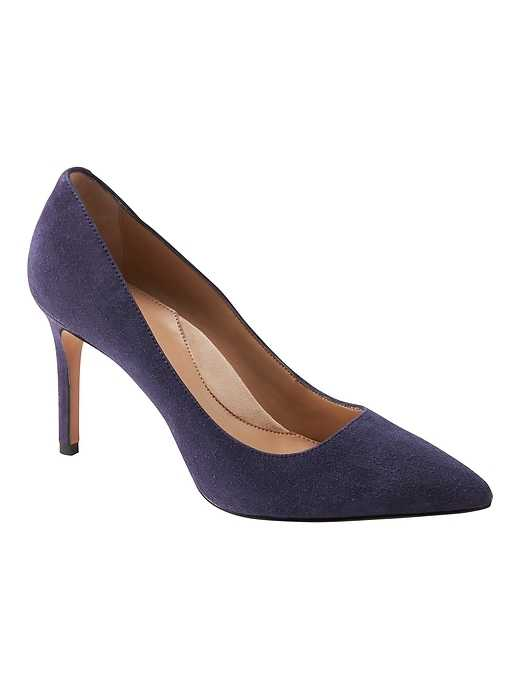 Madison 12-Hour Rounded-Topline Pump - Banana Republic - GOOFASH