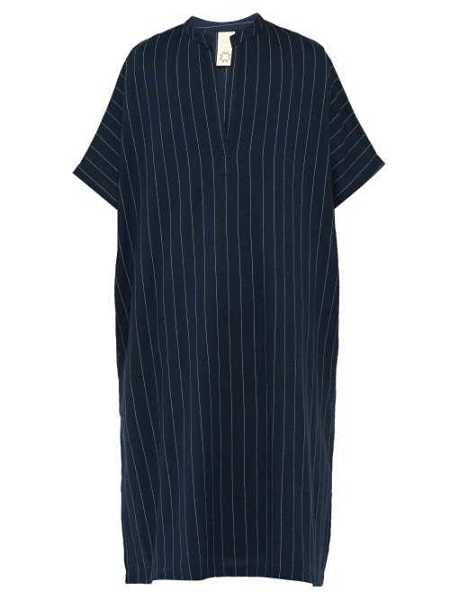 Marrakshi Life - Pinstriped Woven Cotton Blend Kaftan - Blue Blue - Matches Fashion - GOOFASH