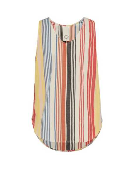 Marrakshi Life - Striped Cotton Blend Tank Top - Multicolored Multicolored - Matches Fashion - GOOFASH