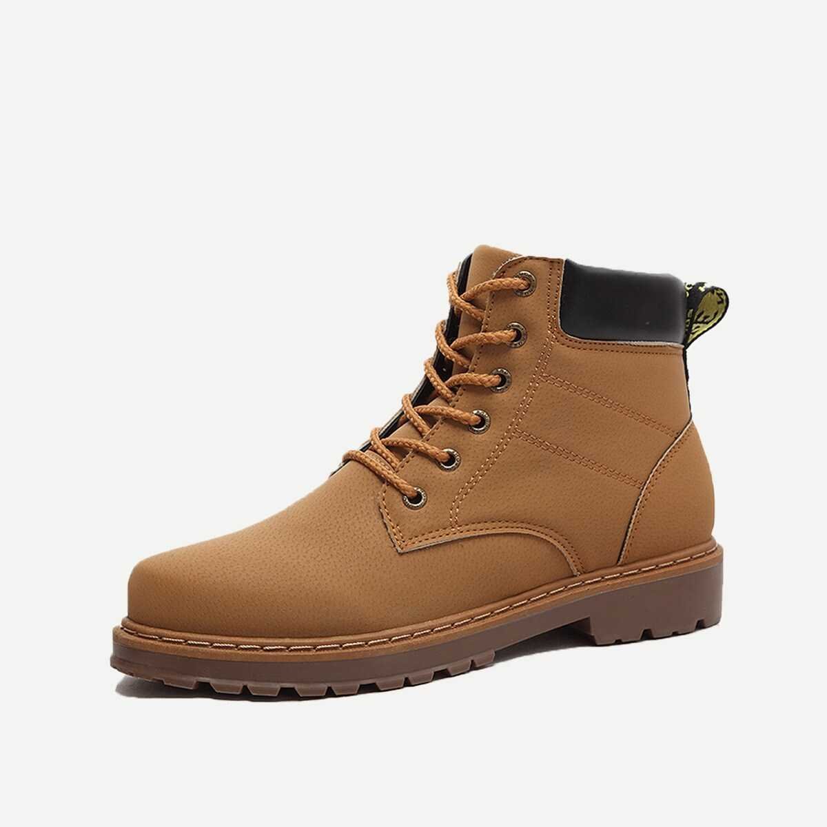 Men Lace-up Boots - Shein - GOOFASH